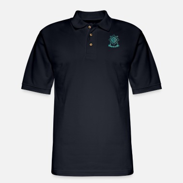 Om Shanti Namaste - Lotus Flower - Spiritual Yoga Om T-Shirt - Men's Pique Polo Shirt