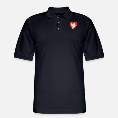 Animal Heart For Pigeons - Men's Pique Polo Shirt
