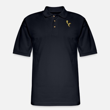 Colorful Mermaid Tails Gold - Men's Pique Polo Shirt