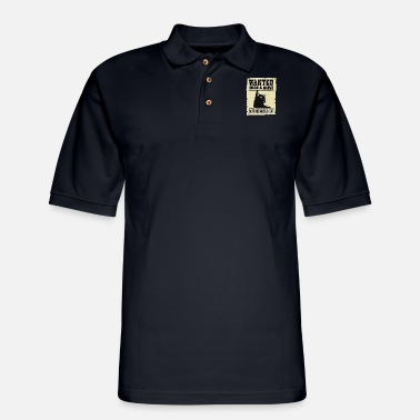 WANTED DEAD AND ALIVE SCHRODINGER'S CAT - Men's Pique Polo Shirt