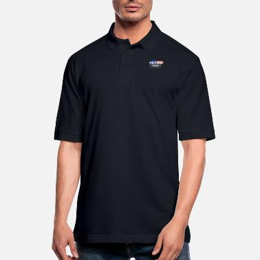 Trump Keep America Great 2020 with Flag - Men's Pique Polo Shirt