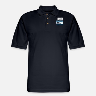 Toddlerteachermug Toddler Teacher - Men's Pique Polo Shirt