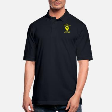 Shouter Bass player - Real Bass Players Use a Pick - Men's Pique Polo Shirt