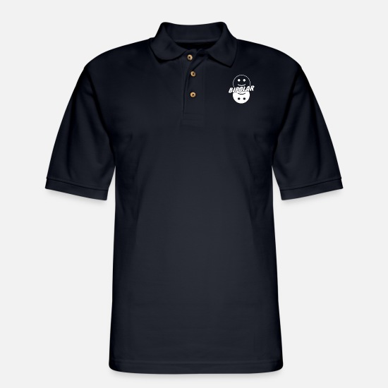 Bipolar Polo Shirts - Bipolar - white - Men's Pique Polo Shirt midnight navy