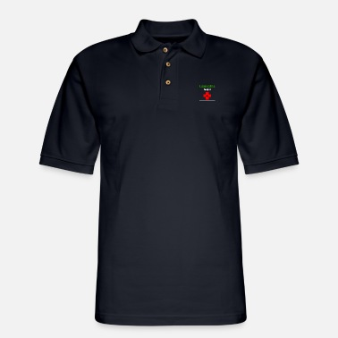 Hemp Cannabis helps! - Men's Pique Polo Shirt