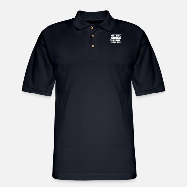 Get Drunk Getting Drunk - Men's Pique Polo Shirt