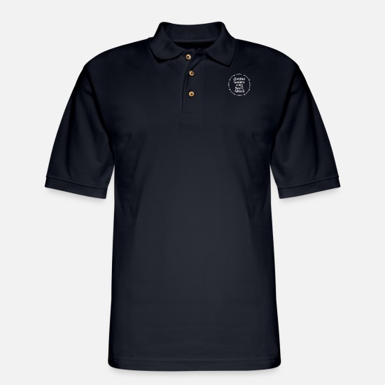 Joanna Gaines Polo Shirts - Joanna Gaines is my Spirit Animal - Men's Pique Polo Shirt midnight navy
