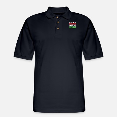 Pause Pause My Strava - Men's Pique Polo Shirt
