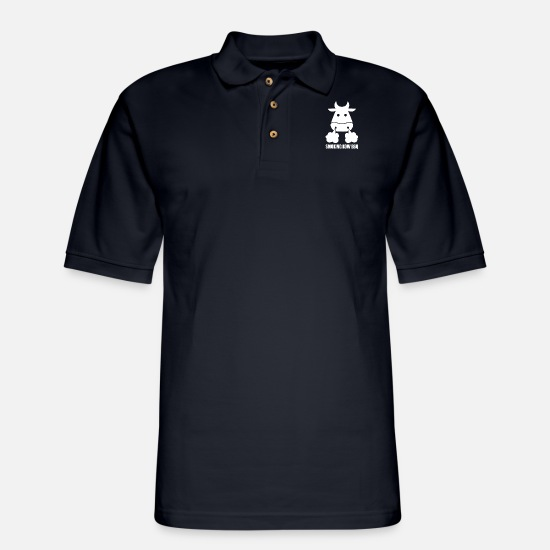 Symbol  Polo Shirts - Smoking Kow Bbq - Men's Pique Polo Shirt midnight navy