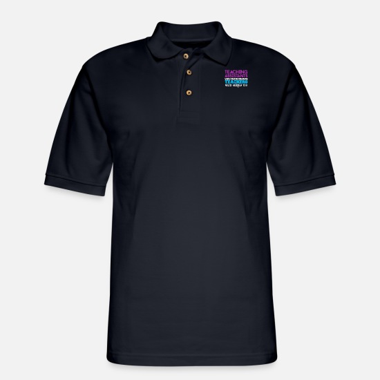 Teaching Polo Shirts - Teaching Assistant - Men's Pique Polo Shirt midnight navy