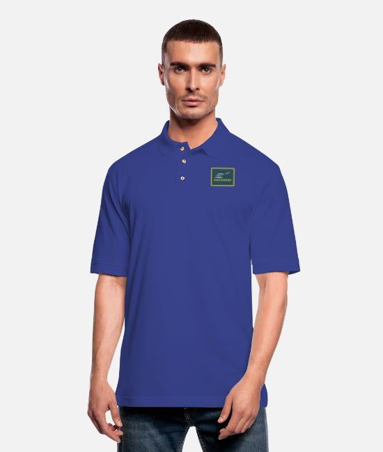 EU Polo Shirts - Eurostar - Men's Pique Polo Shirt royal blue