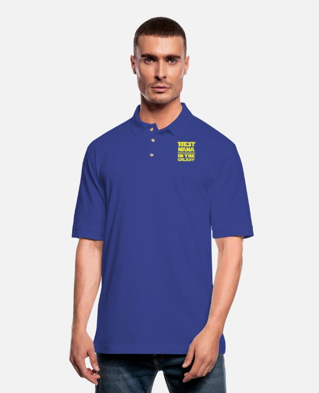 Galaxy Polo Shirts - Nana - The best nana in the galaxy awesome tee - Men's Pique Polo Shirt royal blue