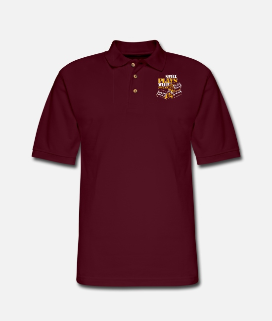 Auto Polo Shirts - Car - still plays with blocks auto drag racing c - Men's Pique Polo Shirt burgundy