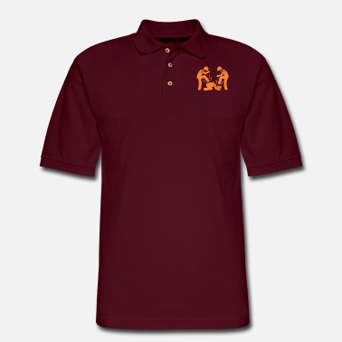 Theft beating and theft - Men's Pique Polo Shirt