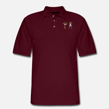 Wealthy wealthy destitute - Men's Pique Polo Shirt