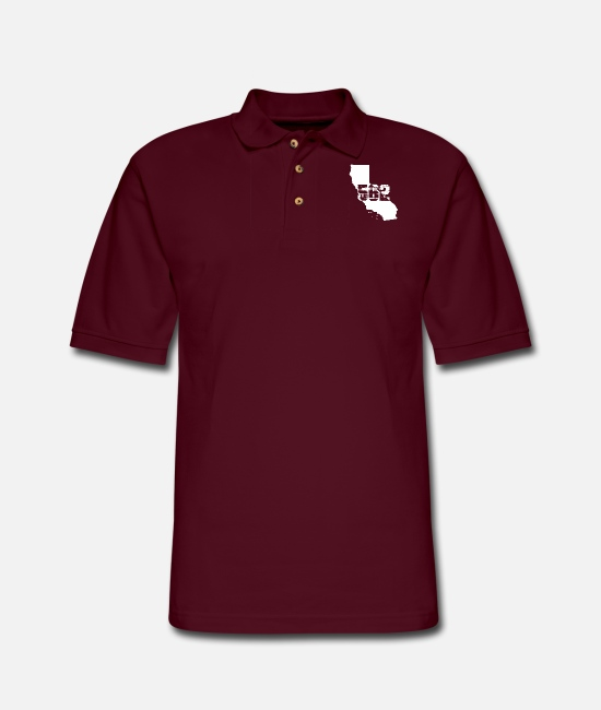 Beach Polo Shirts - Long beach california 562 area code - Men's Pique Polo Shirt burgundy