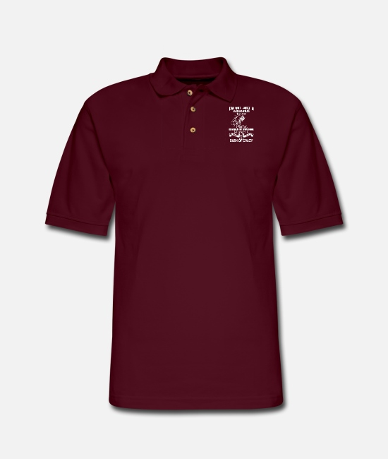 Aquarius Baby Polo Shirts - Aquarius - I'm not just an Aquarius awesome tee - Men's Pique Polo Shirt burgundy