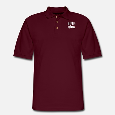 Typography Jeep life - Men's Pique Polo Shirt