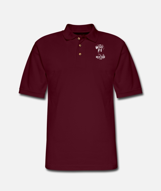 Great Polo Shirts - Great dane - great dane official dog of the coo - Men's Pique Polo Shirt burgundy