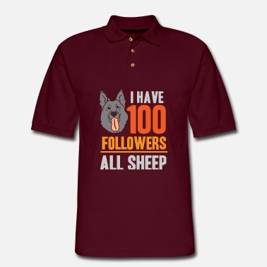 Australian Sheep Dog Australian Shepherd Sheep Dog Pasture - Men's Pique Polo Shirt