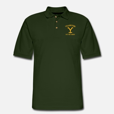 Yellow Stone Yellow stone brand logo - Men's Pique Polo Shirt