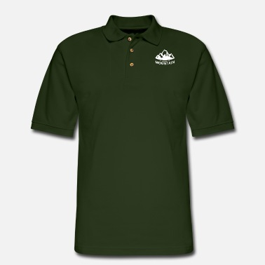 Mountains Mountain mountain mountains - Men's Pique Polo Shirt
