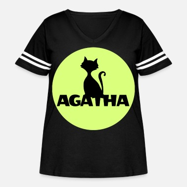 Name Day Agatha Name First name Name Motif name day - Women's Curvy Vintage Sport T-Shirt