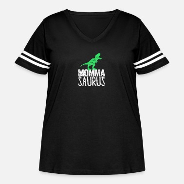 Dino Family Matching Outfit T-Rex Dinosaur Momma Saurus - Women's Curvy Vintage Sport T-Shirt