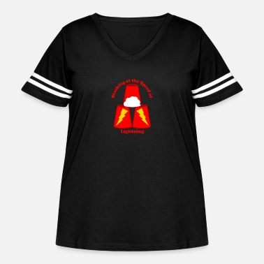Stacking Sport Stacking: Stacking at the Speed of Lightning - Women's Curvy Vintage Sport T-Shirt