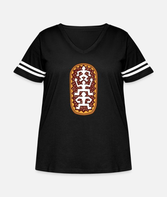Tradition T-Shirts - ornament ETHNIC - Women's Curvy Vintage Sport T-Shirt black/white