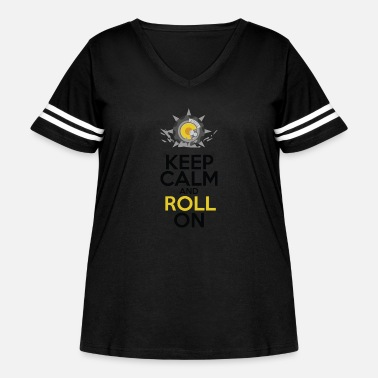 Keep Calm and Roll On - Women's Curvy Vintage Sport T-Shirt