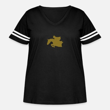 Equitation equitation rider jumping horse 99 - Women's Curvy Vintage Sport T-Shirt