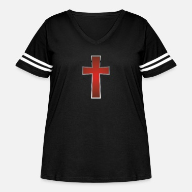Cross Christianity Cross Christians - Women's Curvy Vintage Sport T-Shirt