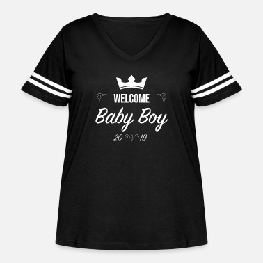 Baby Welcome Baby Boy - Sussex Birth Britain 2019 - Women's Curvy Vintage Sport T-Shirt