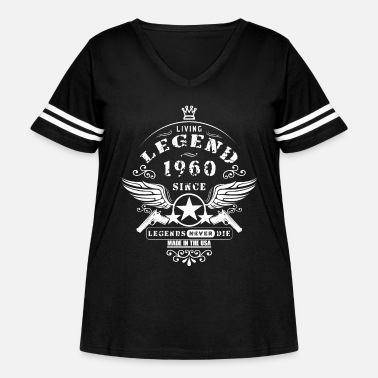 Legends Are Born 1960 Legend - Women's Curvy Vintage Sport T-Shirt