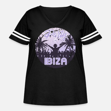 Hardstyle Party in Ibiza - Women's Curvy Vintage Sport T-Shirt