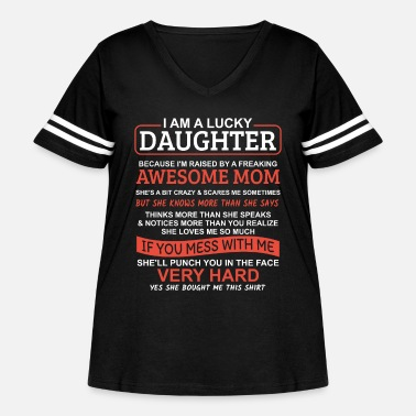 Daughter I Am A Lucky Daughter - Women's Curvy Vintage Sport T-Shirt