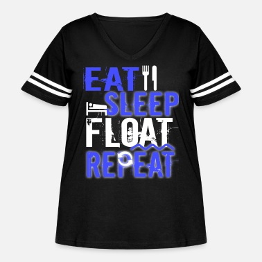 Float Tank Float Therapy Eat Sleep Float Repeat - Women's Curvy Vintage Sport T-Shirt