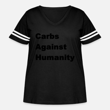 Carbs Carbs Against Humanity - Women's Curvy Vintage Sport T-Shirt