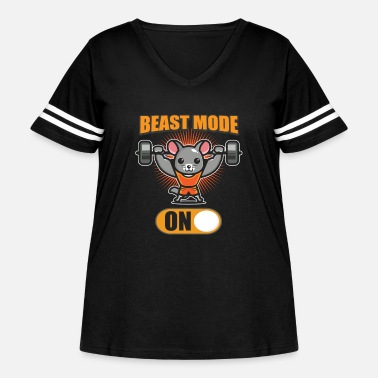 Fitness Cute Fitness Mouse Beast Gym - Women's Curvy Vintage Sport T-Shirt