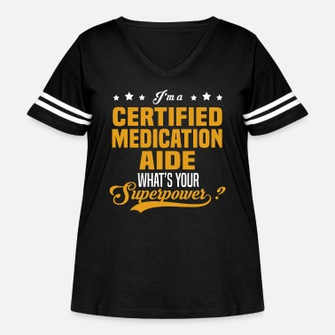 Medication Certified Medication Aide - Women's Curvy Vintage Sport T-Shirt