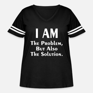 THE PROBLEM AND SOLUTION - Women's Curvy Vintage Sport T-Shirt