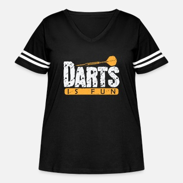 Target Darts is Fun - Women's Curvy Vintage Sport T-Shirt