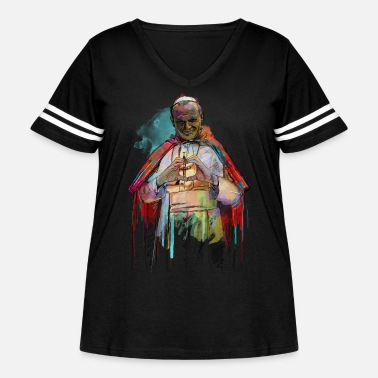 Pope pope - Women's Curvy Vintage Sport T-Shirt