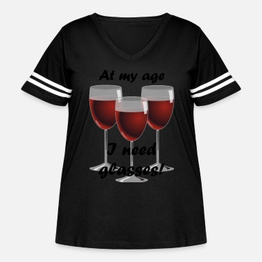 Age At my age I need glasses! - Women's Curvy Vintage Sport T-Shirt