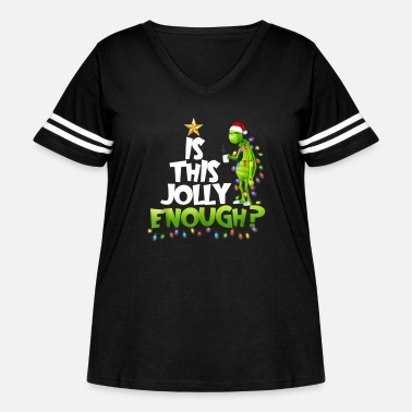 Grinch Is this jolly enough Noel merry christmas - Women's Curvy Vintage Sport T-Shirt