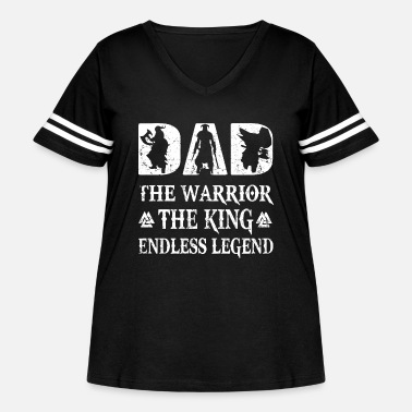 dad the warrior the king andless legend dad - Women's Curvy Vintage Sport T-Shirt