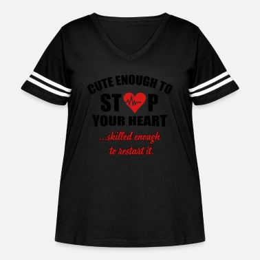 Halloween Cute enought to stop your heart - paramedic - Women's Curvy Vintage Sport T-Shirt