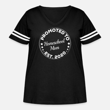 Chaos Promoted To Homeschool Mom est 2020 - Women's Curvy Vintage Sport T-Shirt