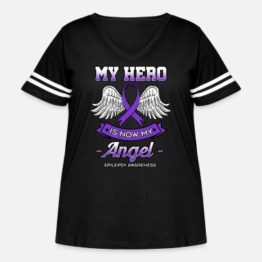 Fighter My Hero Is Now My Angel - Women's Curvy Vintage Sport T-Shirt